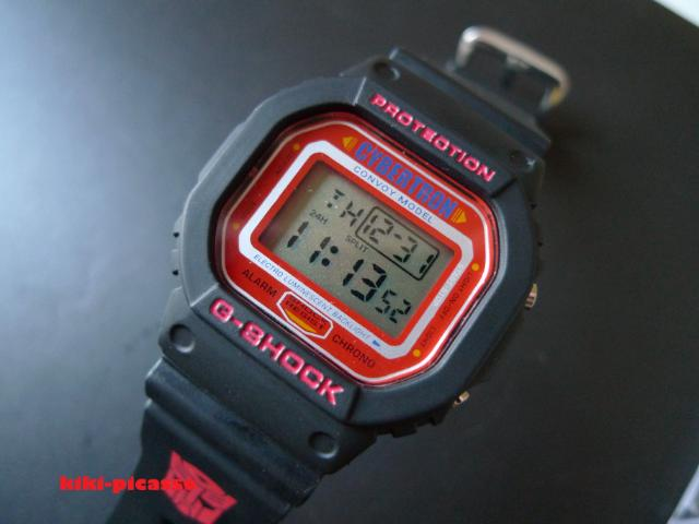 46f2492d4a1 Fake Transformers Cybertron G-Shock (off center dash in date and two dots  in the time)
