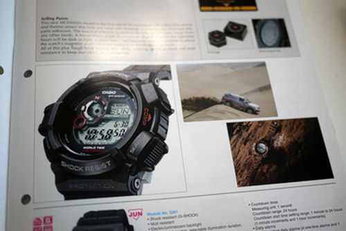 9300 1dr mudman in casio catalog limited edition black x gold g