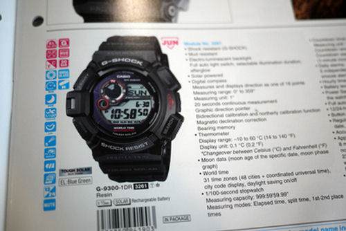 Casio: g-shock g-9300-1 mudman photos, videos and specifications.