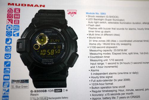 Limited Edition Black x Gold G-9300GB-1DR Mudman G-Shock 398e750256