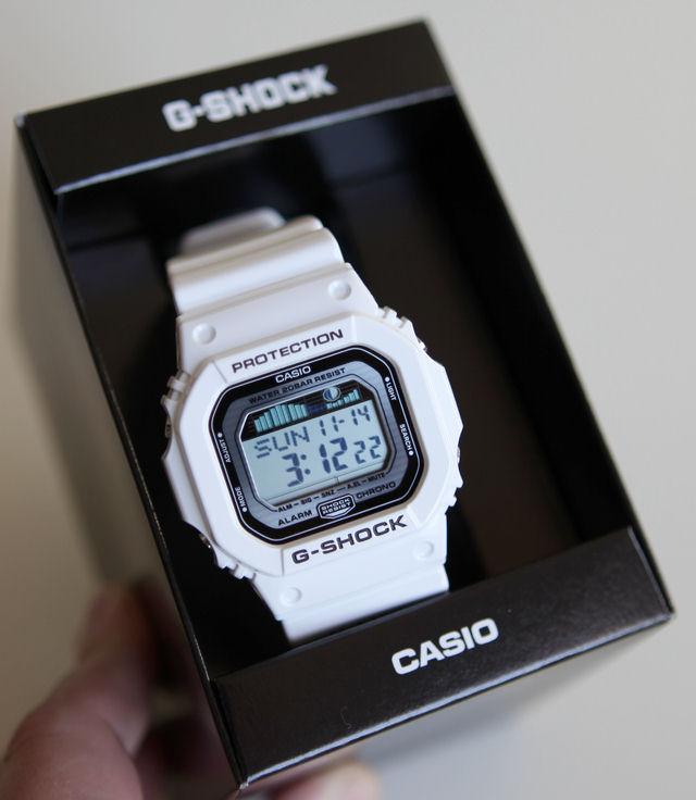 White glx 5600 1dr g lide casio g shock