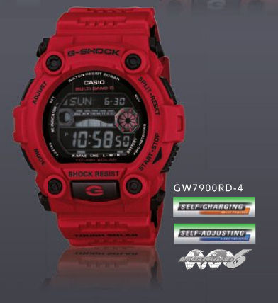Red GW7900RD-4 G-Shock (aka GW-7900RD-4DR or GW-7900RD-4JF?)
