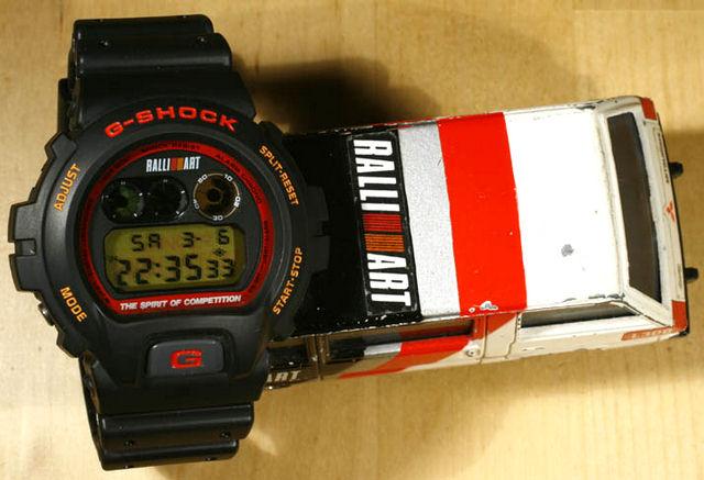 Mitsubishi Ralliart Motorsports DW-6900G G-Shock on 50Gs ...