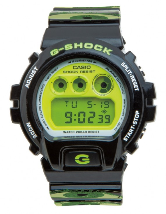Mountain dew green label art g shock x upso collaboration for Mountain watches